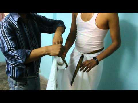 How to wear dhoti 2 styles