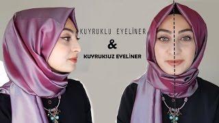 Kolay Eyeliner Çekimi│ Kuyruklu Eyeliner&Kuyruksuz Eyeliner #Makyaj