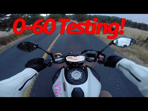 FZ-07 MT-07 0-60 MPH Testing and stories of getting pulled over!