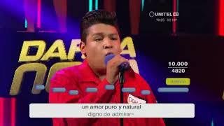 Diego interpretó 'Mi niña bonita' de Chino y Nacho