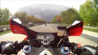 Honda CBR 954RR Fireblade, top speed (Speedrun German highway)...