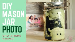 Easy 3 Item Craft Idea: DIY Mason Jar Photo!