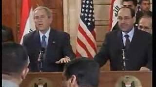 Bush schiva 2 scarpe in faccia !!