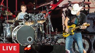 HOT FOR TEACHER - LIVE (6 year old Drummer) Avery Drummer Molek & Brad Paisley