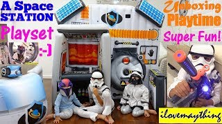Inflatable Play Tent Playtime. Astronaut Space Mission Pretend Play with Hulyan and Maya