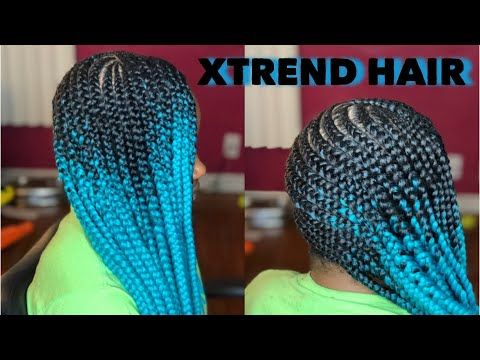 Lemonade Braids on 4C Hair Using Only Edge Control | Xtrend Hair