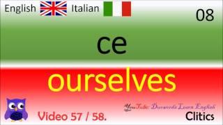57 Clitics Italiano - Parole inglesi / Italiano - Inglese, Corso gratuito