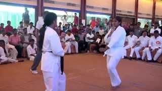 girls karate fight  INDIA