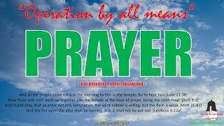 Operation By All Means  Morning  Prayer September 21, 2018