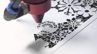 100 Watt Laser Cutter Makes Paper Wedding Invitation