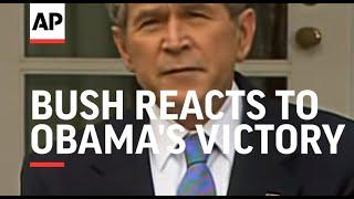President Bush reacts to Obama