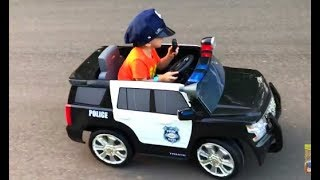 Kids Police Car Learning Video Learn Colors with Playground & Toys Games Shopping for Children