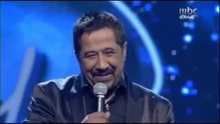 ترحيب اعضاء اللجنة بملك الراي الشاب خالد   Arab Idol 2013   billou4u