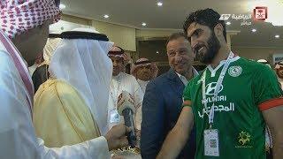 """أمير تبوك للاعب الاتفاق العراقي أحمد إبراهيم: """"إن شاء الله نجيكم في بغداد"""""""