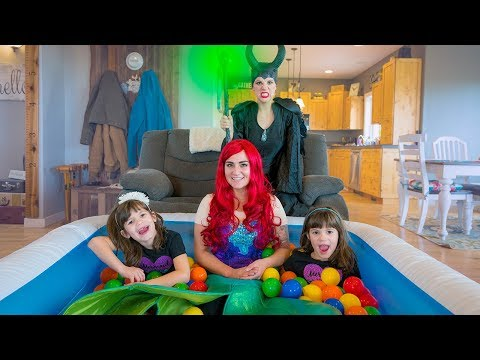 Pool Party with Little Mermaid Ariel and Maleficent!