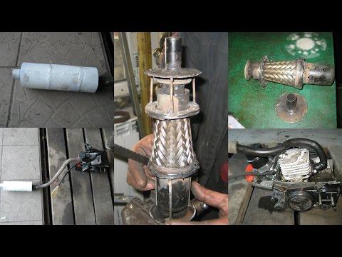 Как сделать глушитель на 2-х тактный двигатель своими руками - song99.online