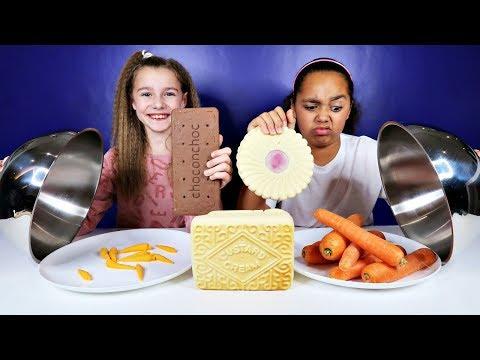 REAL FOOD VS CHOCOLATE FOOD CHALLENGE