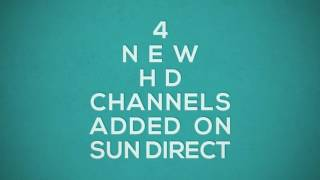 4 New HD Channels added on SUN DIRECT