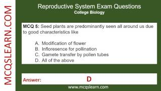 Reproductive System Exam Questions - MCQsLearn Videos