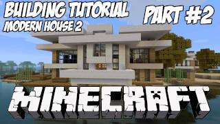 Minecraft Tutorial HD: Modern House 2 - Part 2