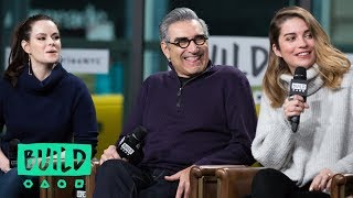 "Daniel Levy, Eugene Levy, Annie Murphy & Emily Hampshire Chat About Season 4 Of ""Schitt"