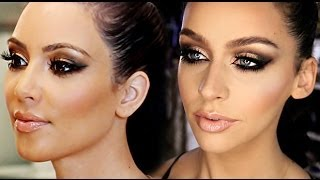 My GO TO Bronze Smokey Eye Look | Kim K Inspired!