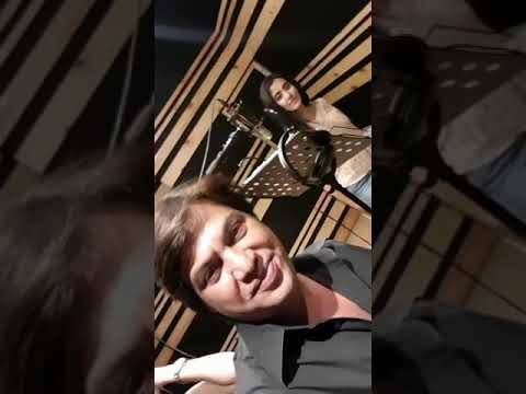With Jonita gandhi on recording song for zee music