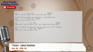 7 Years - Lukas Graham Vocal Backing Track with chords and lyrics