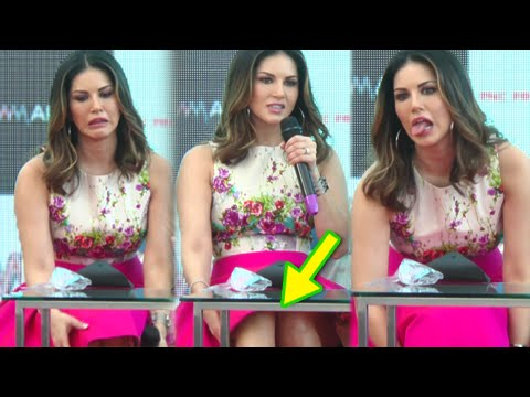 OOPS ! Sunny Leone Skirt FLIES | Wardrobe Malfunction