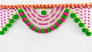 DIY  Simple And Beautiful Pearl Door Hanging Making At Home | Pearl Toran Hanging/homemade creations