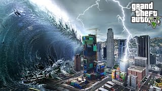 MEGA TSUNAMI DESTROYS LOS SANTOS - GTA 5 END OF LOS SANTOS MOD
