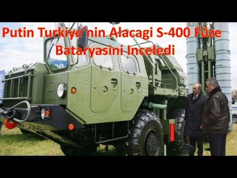 Putin Turkiye'nin Alacagi S-400 Füze Bataryasini Inceledi