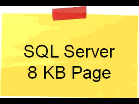 Can you explain the concept of SQL Server 8 KB page ?(SQL Server interview questions)