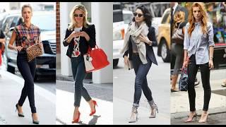 Outfits con jeans y zapatos de tacón