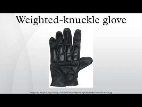 Weighted-knuckle glove