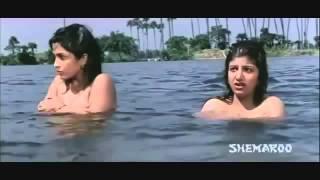 Ramya and Rambha Indian Actress Boob Show in Water