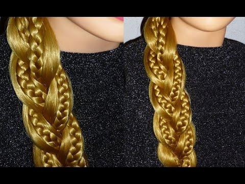 Причёски самой себе на каждый день. Причёска Ажурная коса.Обратная коса с плетением косички внутри - VidoEmo - Emotional Video U