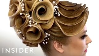 This hairstylist does unbelievable designs with hair