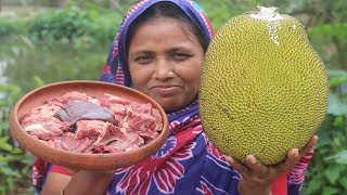 Farm Fresh Yummy Jackfruit Recipe Awesome Cooking Beef With Fresh Jackfruit Curry Village Food