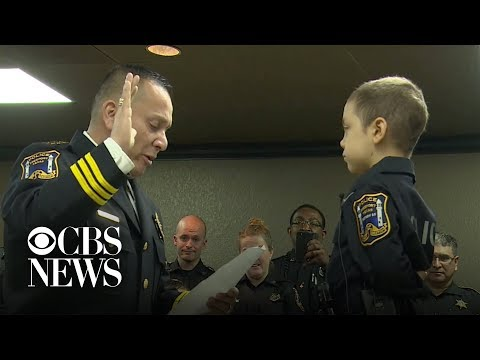 Xxx Mp4 6 Year Old Girl With Incurable Cancer Becomes Honorary Police Officer 3gp Sex