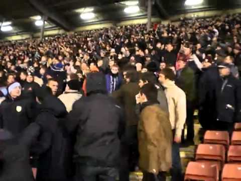 Fisticuffs at the end of the Barnsley v Burnley match