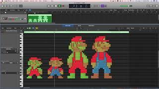 Pixel Mario MIDI Art