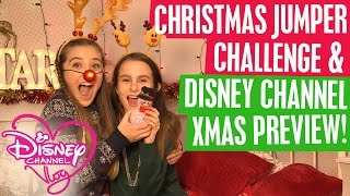 DISNEY CHANNEL VLOG | CHRISTMAS JUMPER CHALLENGE | XMAS PREVIEW! 🎅 🎄☃️