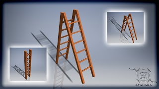 Double foldable ladder