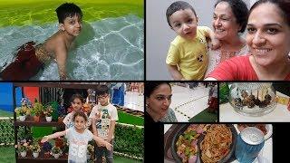 Fun in the Pool   Random Clips of Last Week    Pakistani Mom   Naush Vlogs   Urdu Hindi