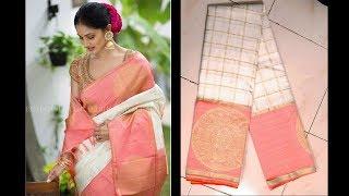 NEW!! Designer Kanjeevaram Silk Sarees   Kanchi Pattu Sarees   Million Designs