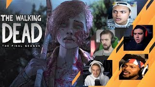 Gamers Reactions to Minnie Singing | The Walking Dead: [S4][E4] Take Us Back