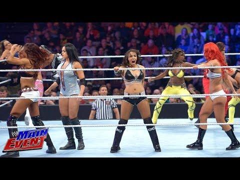 Divas Championship No. 1 Contender Battle Royal WWE Main Event April 15 2014