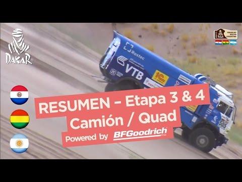 Resumen de las etapas 3 y 4 Quad Camión San Salvador de Jujuy Tupiza Dakar 2017