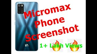 Taking Screenshot on Micromax Canvas Spark 3 & other Micromax Phones